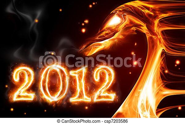 fire dragon - csp7203586