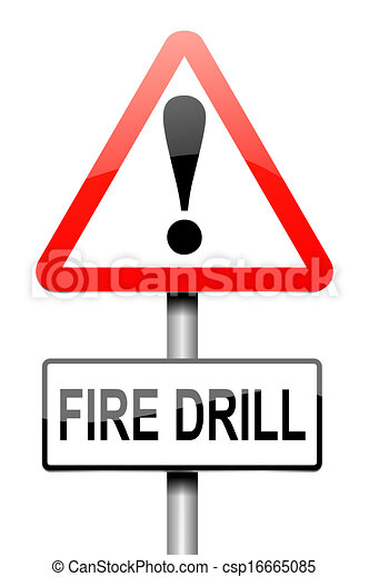 illustration depicting a sign with a fire drill concept stock rh canstockphoto com fire drill clipart fire drill clipart black and white