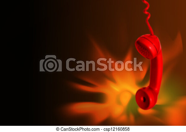 Fire emergency call background - csp12160858