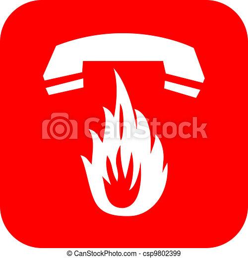 Fire emergency call - csp9802399