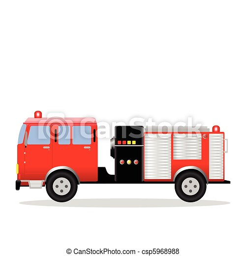 fire engine vector illustration of a fire engine rh canstockphoto com fire truck vector image fire truck vector clipart