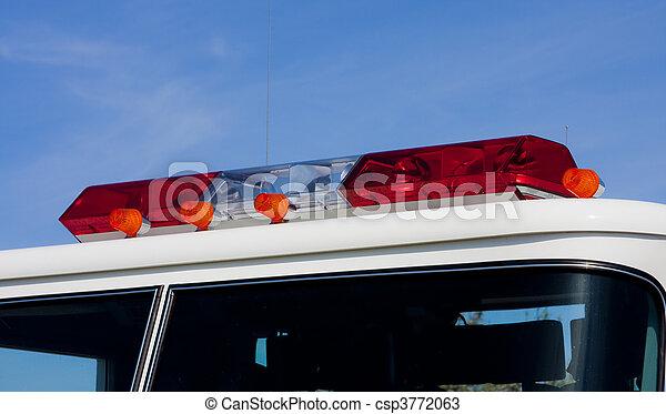 Fire engine light bar red lights on a fire engine fire engine light bar csp3772063 aloadofball Choice Image