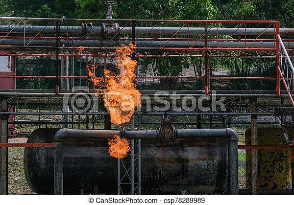 fire., entrenamiento, gas, tanques, durante - csp78289989