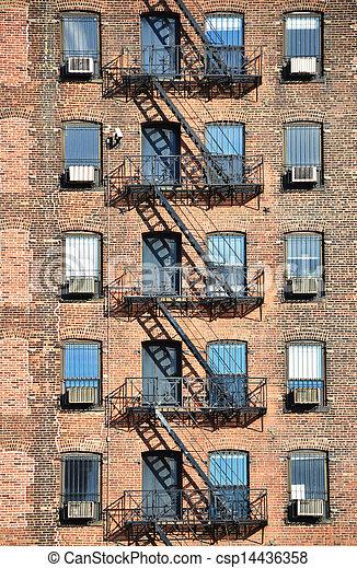 Fire escape, NYC - csp14436358