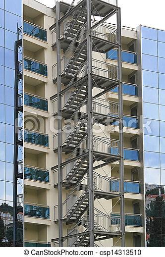 Wonderful Fire Escape Stairway   Csp14313510