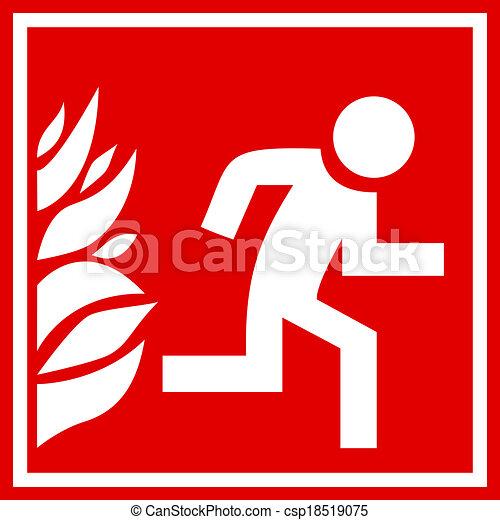 Fire evacuation sign - csp18519075