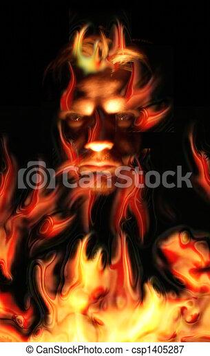 fire  evil - csp1405287