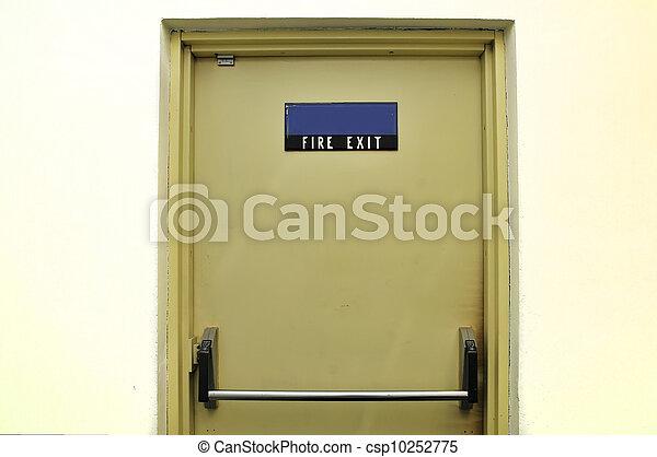 Fire exit door - csp10252775