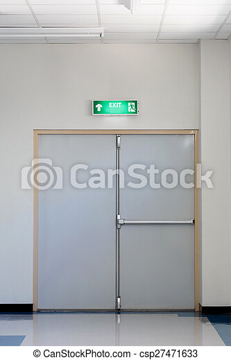 fire exit door - csp27471633