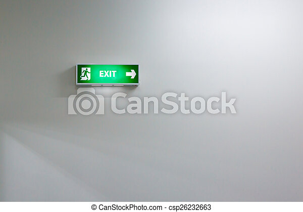 Fire exit sign - csp26232663