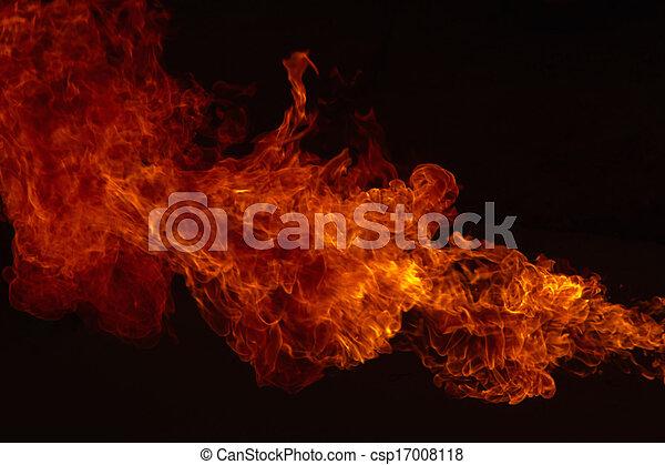 Fire explosion , Blaze Fire flames  background  - csp17008118