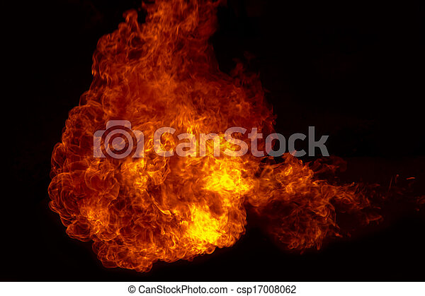 Fire explosion , Fire flames  background - csp17008062