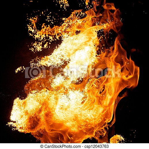 Fire explosion - csp12043763