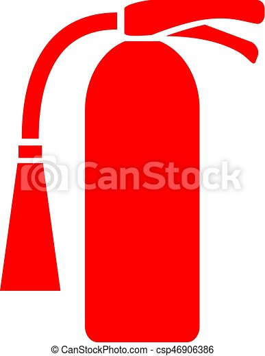 Fire extinguisher icon - csp46906386