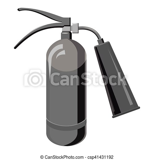Fire extinguisher icon, gray monochrome style - csp41431192