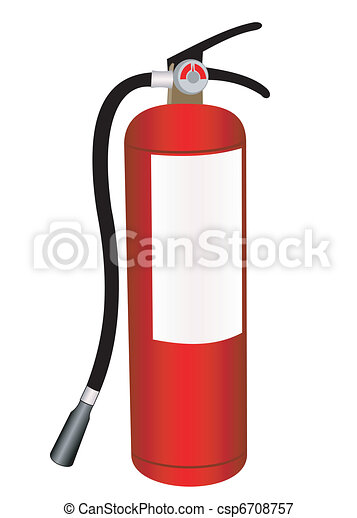 fire extinguisher illustration on a white background vectors rh canstockphoto com free fire extinguisher pictures clip art fire extinguisher clipart