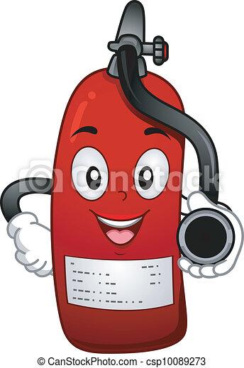 Fire Extinguisher Mascot - csp10089273