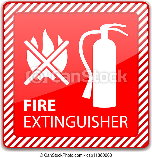 Fire Extinguisher Sign - csp11380263