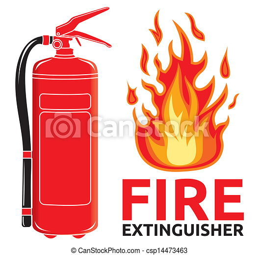 fire extinguisher sign clip art vector search drawings