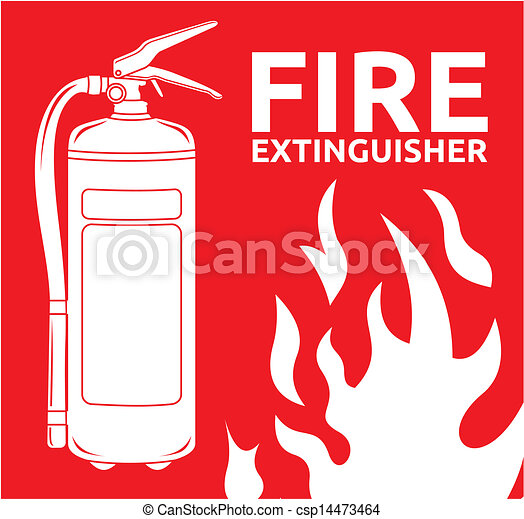 Fire extinguisher sign  - csp14473464