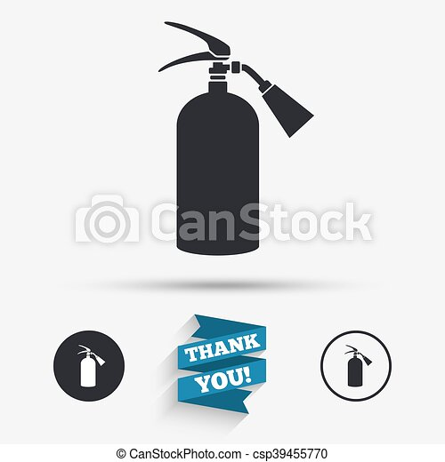 Fire extinguisher sign icon  Fire safety symbol