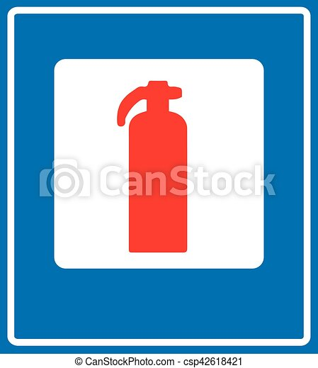 Fire Extinguisher Sign Fire Extinguisher Road Sign Vector Red