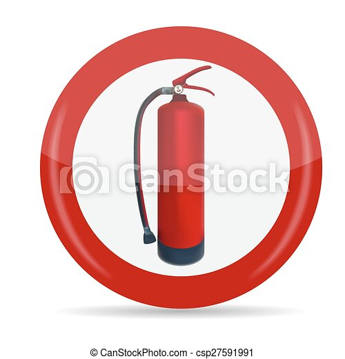 Fire Extinguisher Sign Vector Illustration - csp27591991