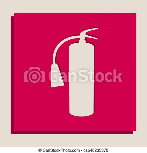 fire extinguisher sign vector grayscale version of