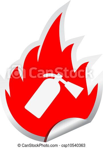 Fire extinguisher vector sign - csp10540363