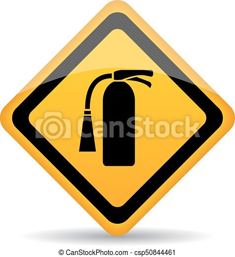 Fire extinguisher vector sign - csp50844461