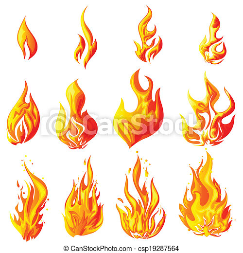 fire flame easy to edit vector illustration of fire flame collection