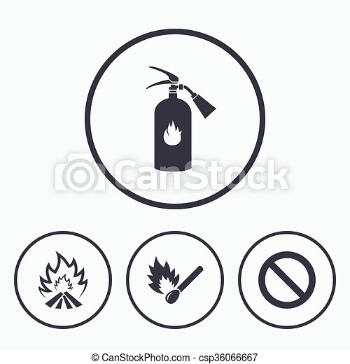 Fire Flame Icons Prohibition Stop Symbol Fire Flame Icons Fire