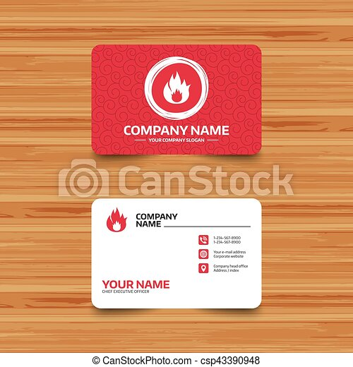 Fire flame sign icon. Fire symbol. - csp43390948