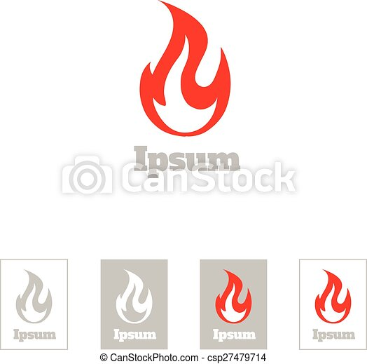 Fire flame vector logo design template. corporate luxury symbol or ...