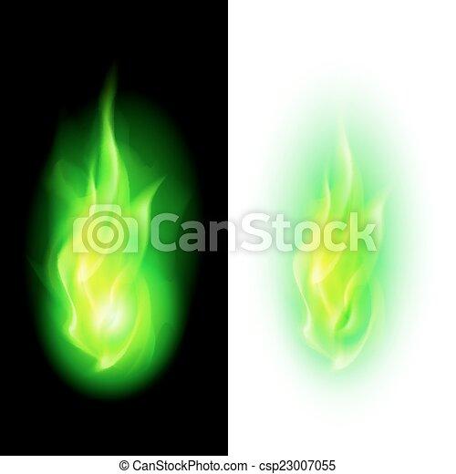 Fire flames - csp23007055