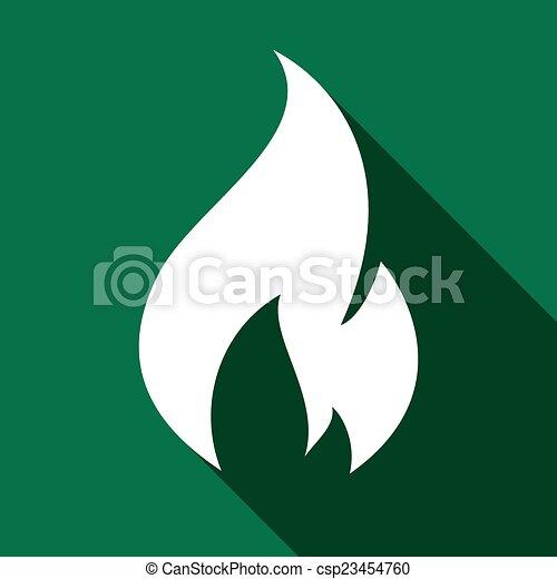Fire flames, set - csp23454760