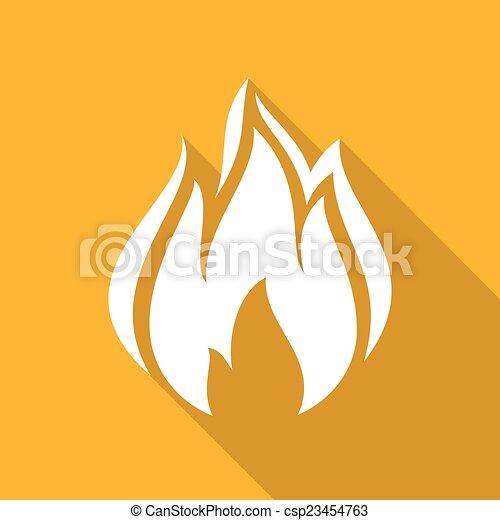 Fire flames, set - csp23454763