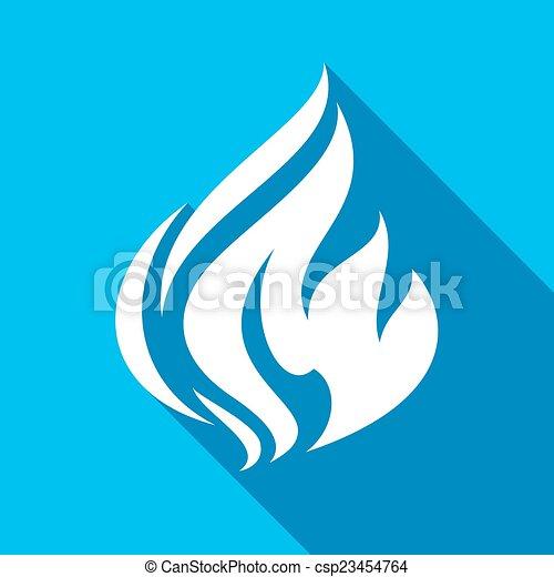 Fire flames, set - csp23454764