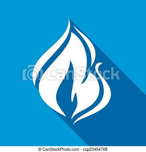 Fire flames, set - csp23454768