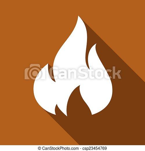 Fire flames, set - csp23454769