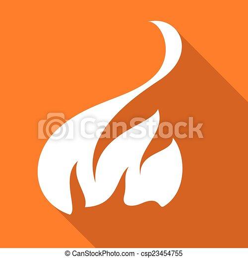Fire flames, set - csp23454755