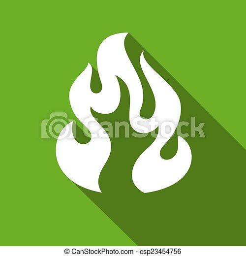 Fire flames, set - csp23454756