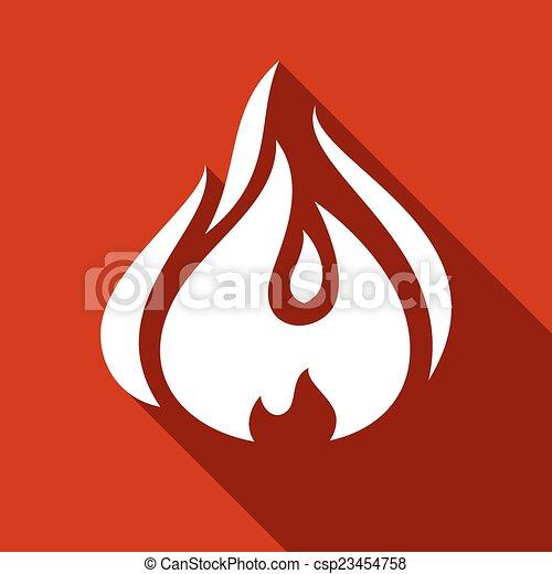 Fire flames, set - csp23454758