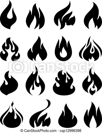 Fire flames, set icons - csp12996398