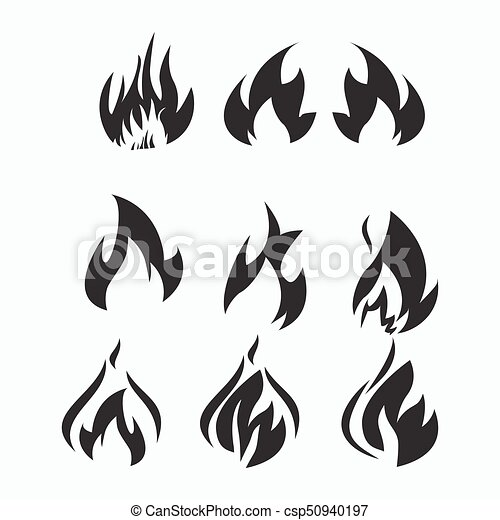 Fire flames, set icons - csp50940197