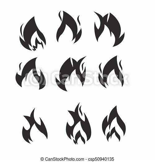 Fire flames, set icons - csp50940135