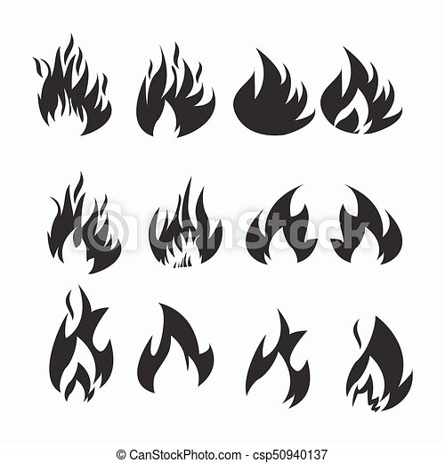 Fire flames, set icons - csp50940137