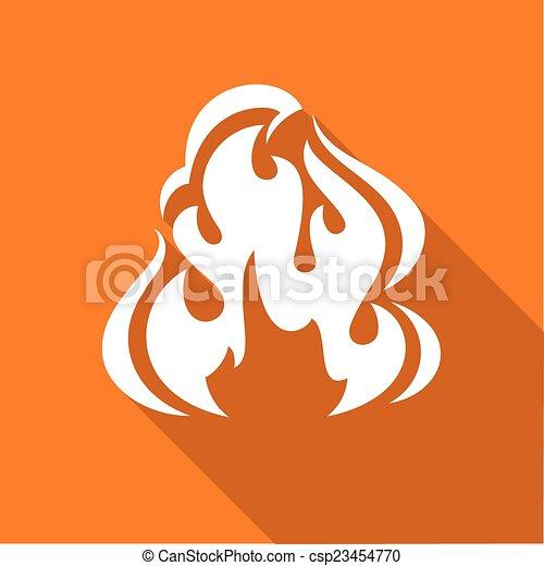 Fire flames, set - csp23454770