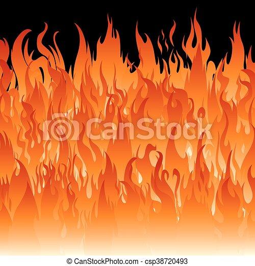 Fire flames wallpaper. - csp38720493