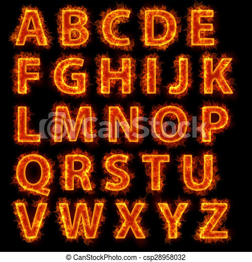 Fire font collection - csp28958032